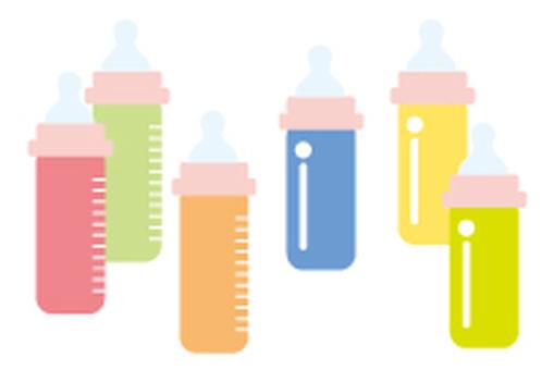Baby bottle illustration