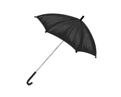 Illustration of a black umbrella