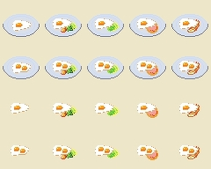 Dot picture fried egg