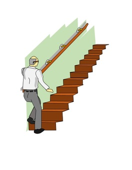 Elevate the stairs with a handrail