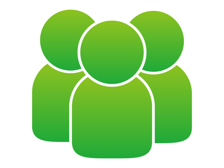 People icon (3 people) Green gradation