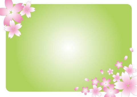 櫻花框架綠色01