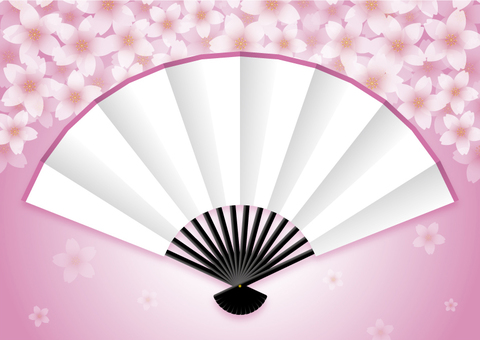 Fan and cherry tree