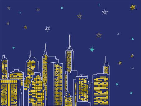 ニューヨーク 夜景 街並み