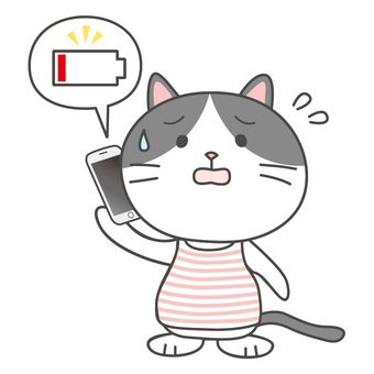 Hachiware Cat-chan runs out of battery