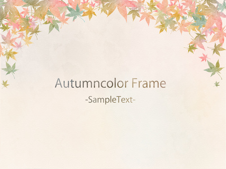Autumn color frame ver 58