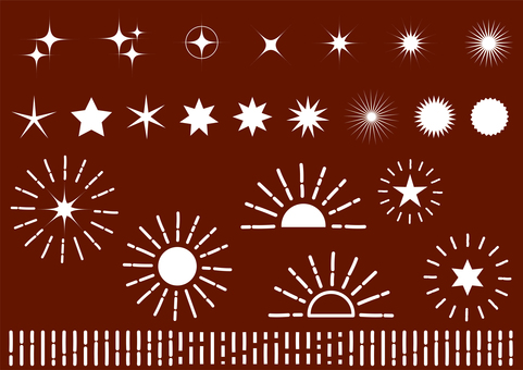Brown radial glitter background material