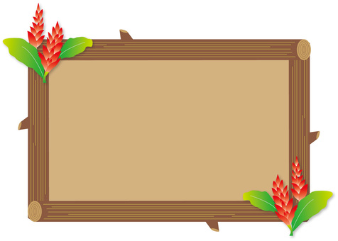 Red ginger and tree frame 01