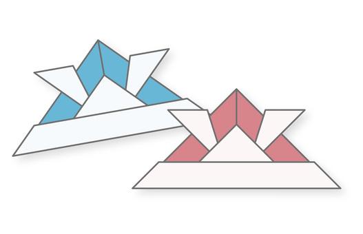Origami (helmet) of Dalma festival