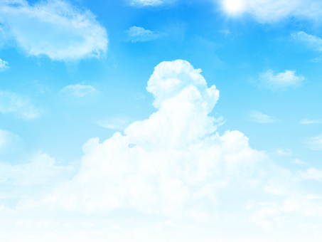 Background for summer blue sky and cloud cover