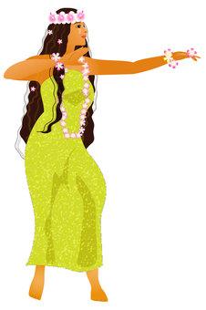 Hula Dance Hula Girl 010