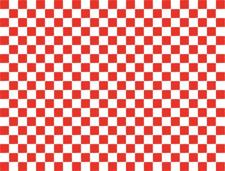 Checkered pattern vermillion