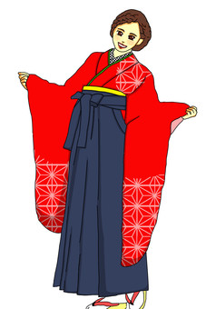 畢業典禮偉大的貓頭鷹袖子紅色大麻葉子