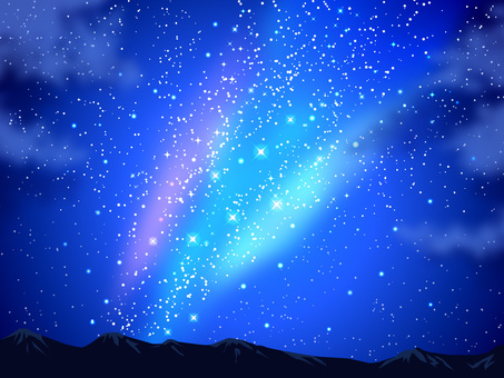 Stars and the Night Sky and Mountains Background 01