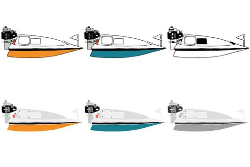 Racing boat set