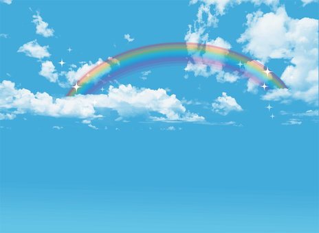 Blue sky and rainbow 2