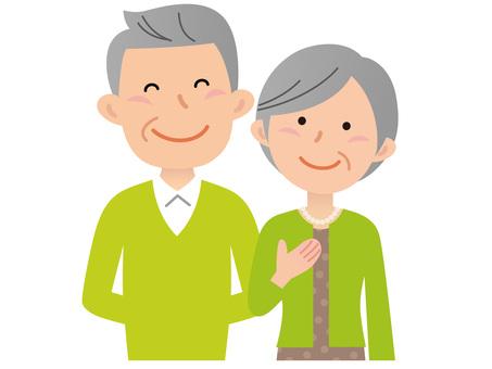51018. Senior couple, upper body