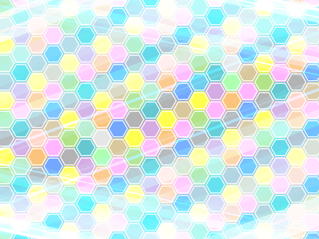 Hexagonal colorful background 17042302
