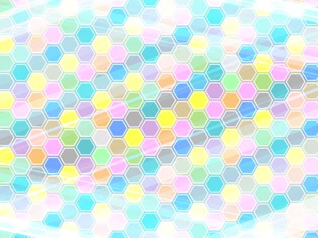 六角形的彩色背景17042302
