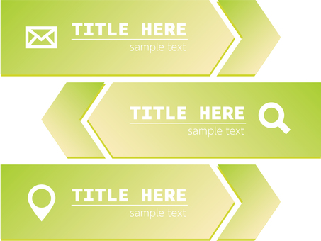 Business banner arrow icon green
