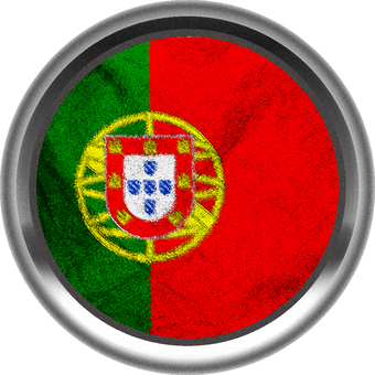 Portugal flag silver border