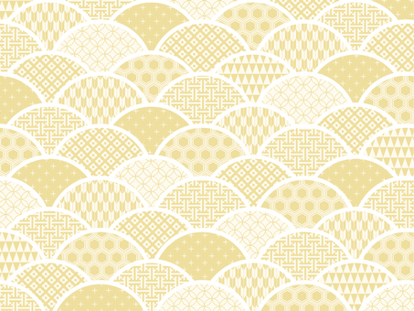Japanese pattern background material (beige)