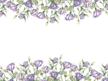 Flower frame 362 - Murasaki Turquoise Flower frame