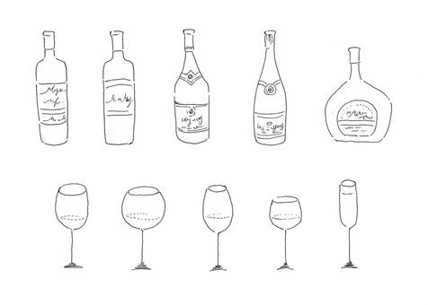 葡萄酒B&W 02