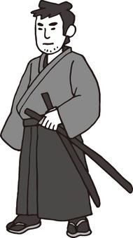 侍(浪人・白黒)