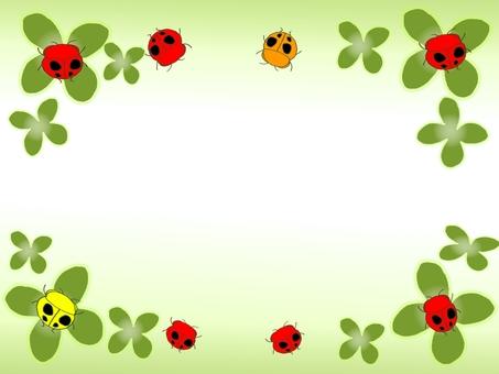Clover and ladybug