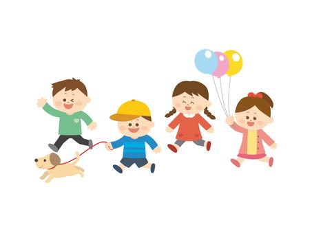 Running children 1
