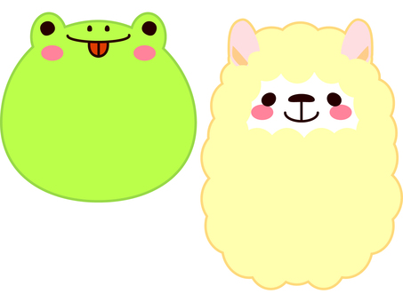 Face Animal Frog and Alpaca