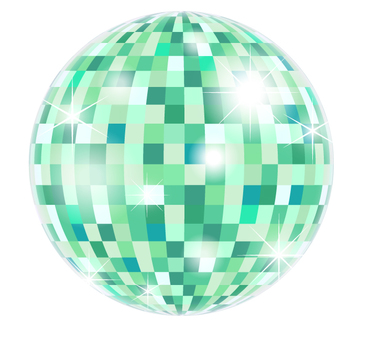 Mirror ball _ green