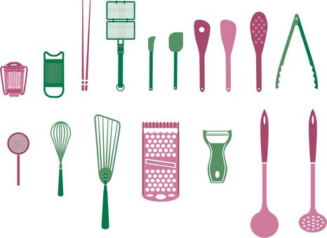 Kitchen utensils silhouette