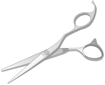 Scissors used by hairdresser