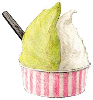 Pistachio and milk gelato