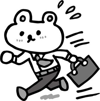 달리고있는 곰 흑백 Ver.