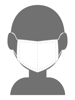 Silhouette of a man wearing a mask