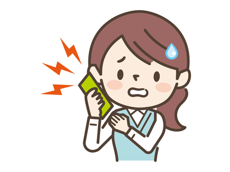Woman cell phone trouble