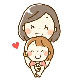 仲良し親子_母親と女の子
