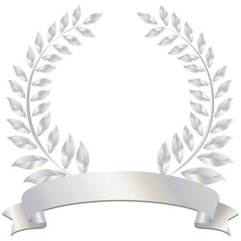 Silver Silver Ribbon Laurel Frame Frame Border Frame