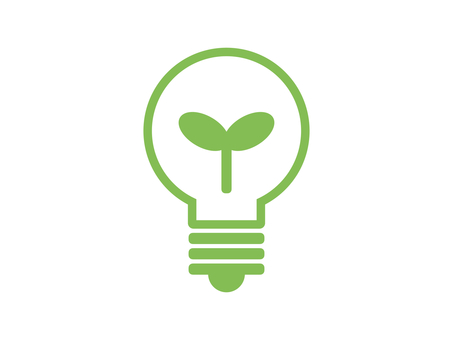Light bulb eco silhouette green