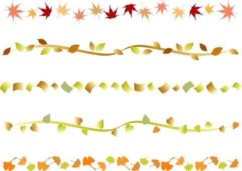 Variety of autumn colors