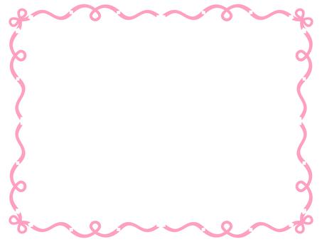 Ribbon frame <Pink>