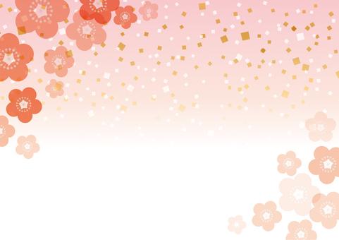 梅の花_和風背景03