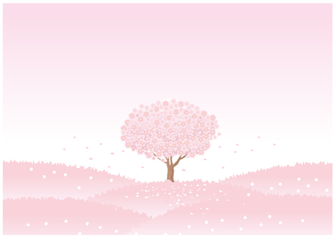 Cherry-colored landscape