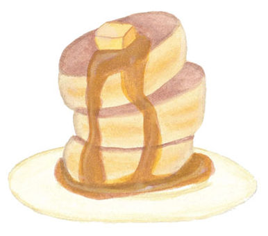Pancake (with plate)
