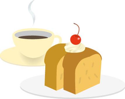 케이크 세트 파운드 케이크