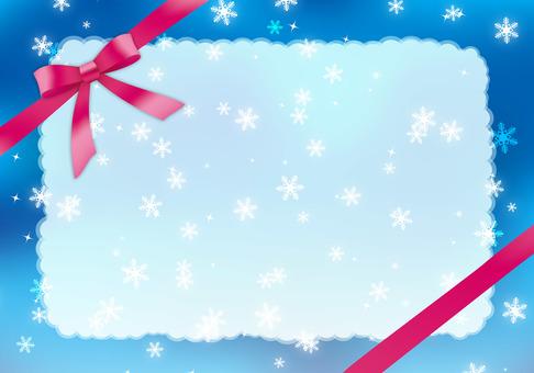 Winter gift frame 3
