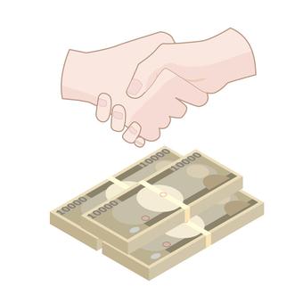 Handshake with money 2
